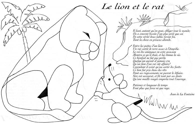 Dessin Facile Le Lion Et Le Rat